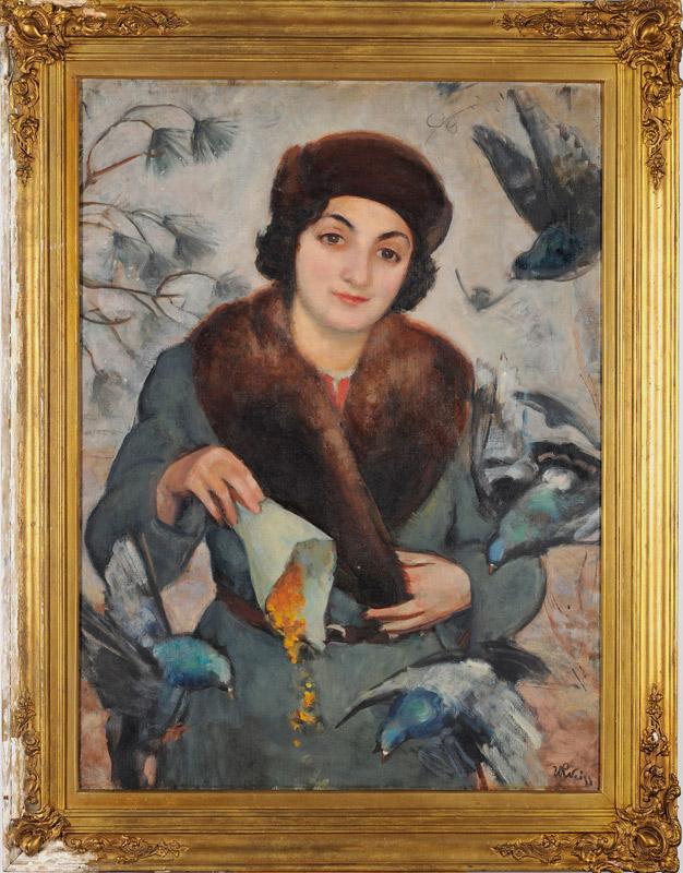 Weiss.W_Kobieta.karmiaca.ptaki