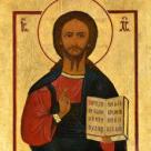 Jezus Pantokrator, ikona na desce