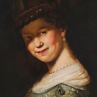 Dama w Kapeluszu - olej na płótnie